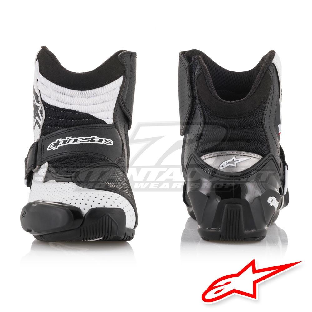 Stivali moto sportivi bassi Alpinestars SMX 1 R VENTED GRAPHIC nero bianco
