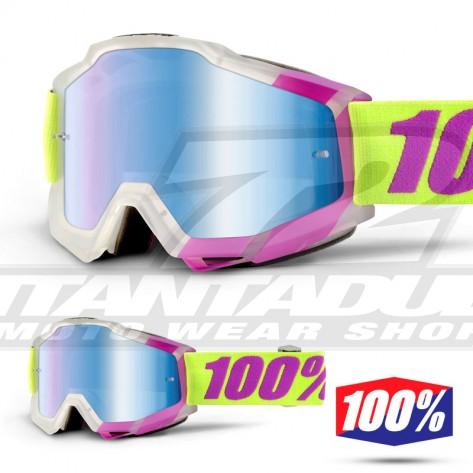 100% Maschera THE ACCURI Acidulous Cyan - Lente Blu Specchio
