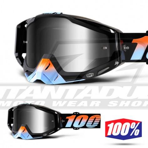 100% Maschera THE RACECRAFT Starlight - Lente Argento Specchio