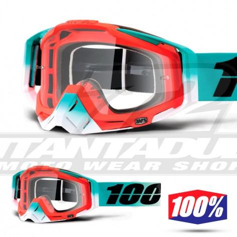100% Maschera THE RACECRAFT Cubica - Lente Trasparente