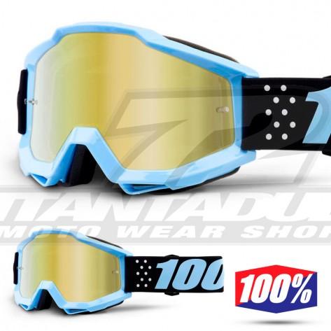 100% Maschera THE ACCURI JUNIOR Acidulous Cyan - Lente Blu Specchio