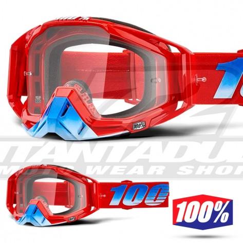 Maschera Cross 100% THE RACECRAFT Kuriakin - Lente Trasparente