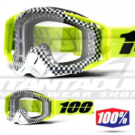Maschera Cross 100% THE RACECRAFT Andre - Lente Trasparente