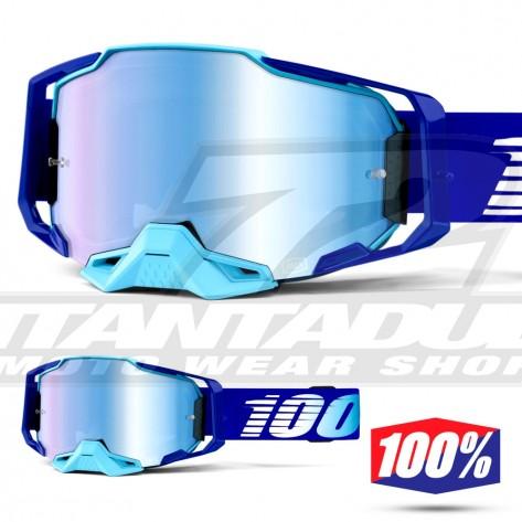 Maschera Cross 100% ARMEGA Royal - Lente Blu Specchio