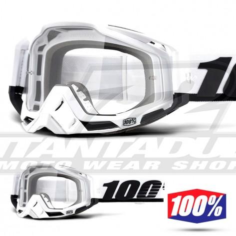 Maschera Cross 100% THE RACECRAFT Stuu - Lente Trasparente