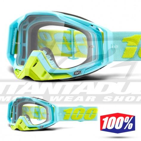 Maschera Cross 100% THE RACECRAFT Pinacles - Lente Trasparente