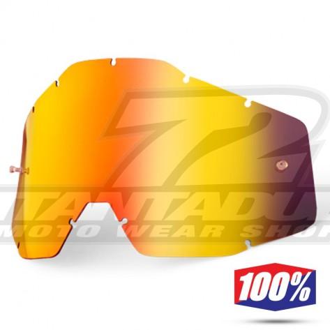 100% Lente Maschere - Rosso Specchio