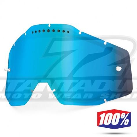 100% Lente Maschere - Doppia Ventilata Blu Specchio