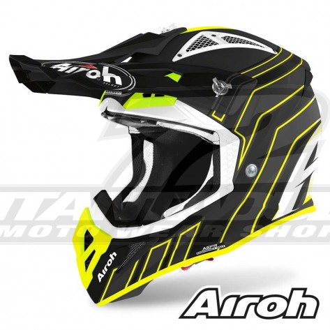 Casco Motocross Airoh AVIATOR ACE Art - Nero Opaco