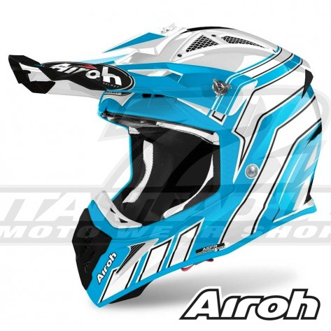 Casco Motocross Airoh AVIATOR ACE Art - Azzurro