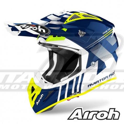 Casco Motocross Airoh AVIATOR ACE Nemesi - Blu
