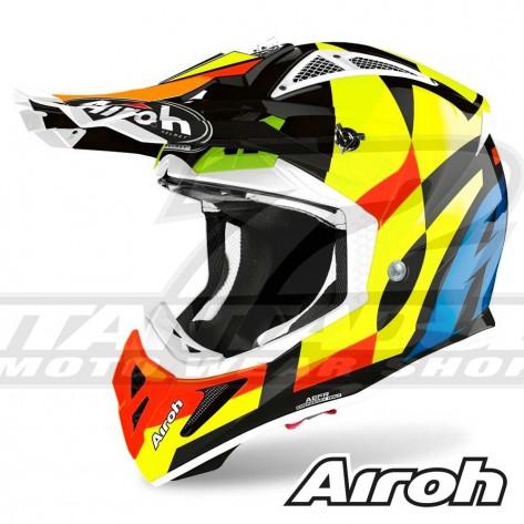 Casco Motocross Airoh AVIATOR ACE Trick - Nero
