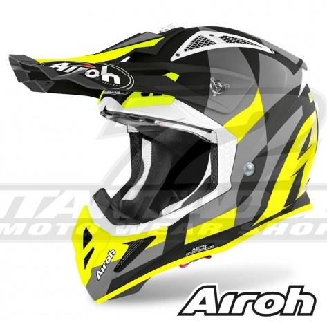 Casco Motocross Airoh AVIATOR ACE Trick - Giallo Opaco