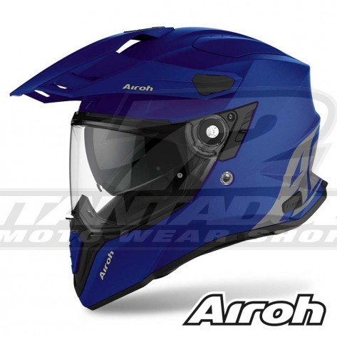 Casco Moto Crossover Airoh COMMANDER Color - Blu Opaco