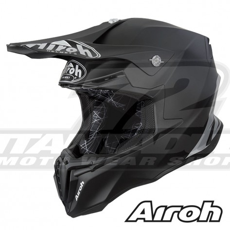 Casco Motocross Airoh TWIST Color - Nero Opaco