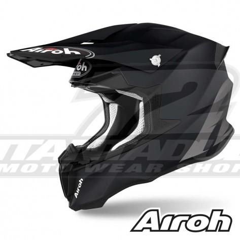 Casco Motocross Airoh TWIN 2.0 Color - Nero Opaco