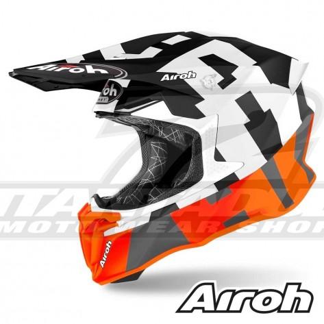 Casco Motocross Airoh TWIN 2.0 Frame - Arancione Opaco