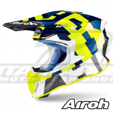 Casco Motocross Airoh TWIN 2.0 Frame - Blu