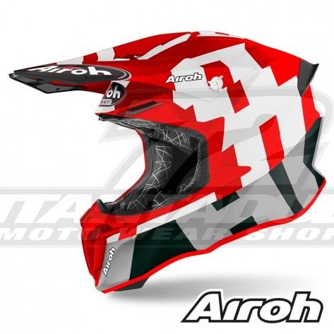 Casco Motocross Airoh TWIN 2.0 Frame - Rosso Opaco