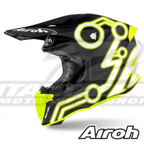 Casco Motocross Airoh TWIN 2.0 Neon - Giallo Opaco