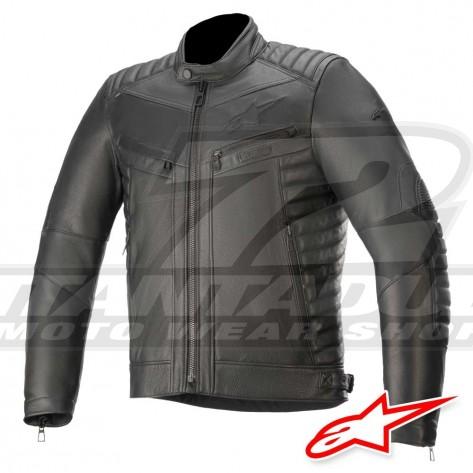 Giacca Pelle Moto Alpinestars BURSTUN - Nero