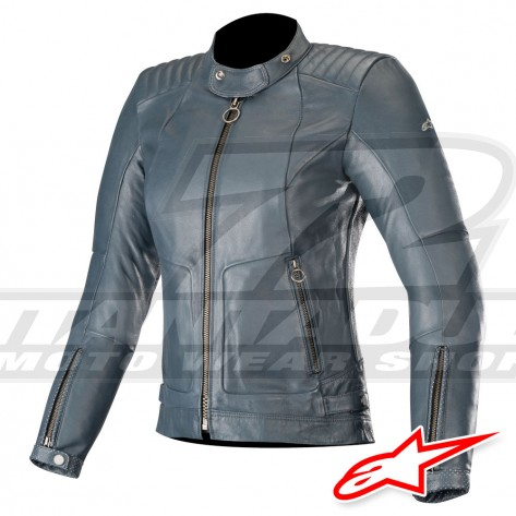 Giacca Pelle Donna Alpinestars GAL - Indaco