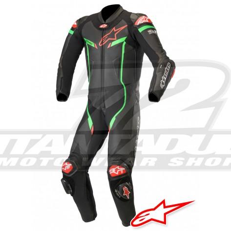 Tuta Racing Alpinestars GP PRO V3 TECH-AIR™ Airbag - Nero Verde Luminoso