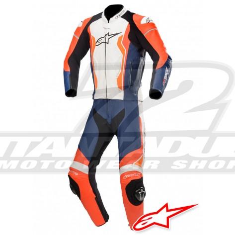 Tuta Divisibile Alpinestars GP FORCE - Rosso Fluo Nero Bianco Arancione Fluo