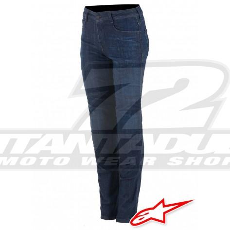 Jeans Moto Donna Alpinestars DAISY V2 Riding Denim - Rinse Plus Blue