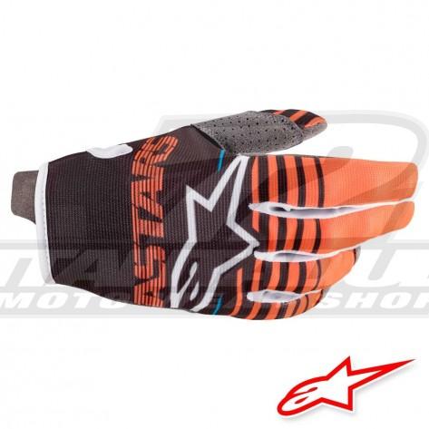 Guanti Cross Bambino Alpinestars YOUTH RADAR - Antracite Arancione Fluo