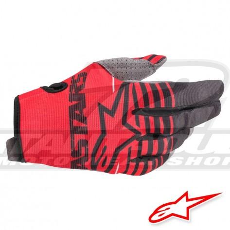 Guanti Cross Alpinestars RADAR - Rosso Luminoso Nero