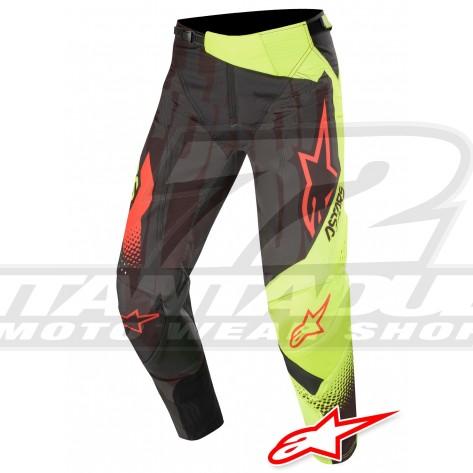 Pantaloni Cross Alpinestars TECHSTAR FACTORY - Nero Giallo Fluo Rosso Fluo