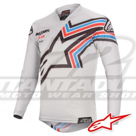 Maglia Cross Alpinestars RACER BRAAP - Grigio Chiaro Nero