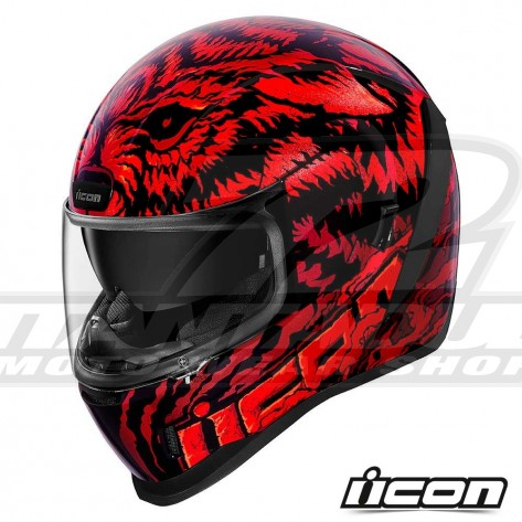 Casco Integrale Icon AIRFORM Lycan - Rosso