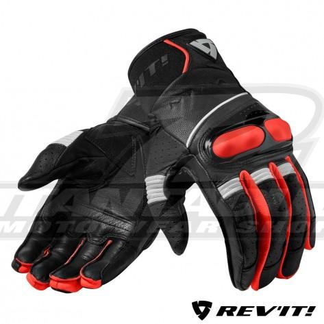 Guanti REV'IT! HYPERION - Nero Rosso Neon