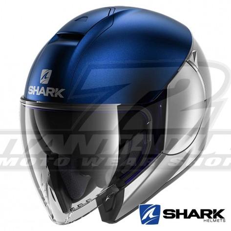 Casco Jet Shark CITYCRUISER Dual Blank Mat - Argento Blu