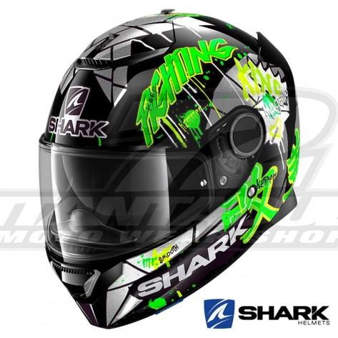 Casco Moto Integrale Shark SPARTAN Lorenzo Catalunya GP - Nero Verde Glitter