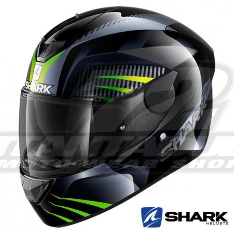 Casco Moto Integrale Shark D-SKWAL 2 Mercurium - Nero Antracite Verde