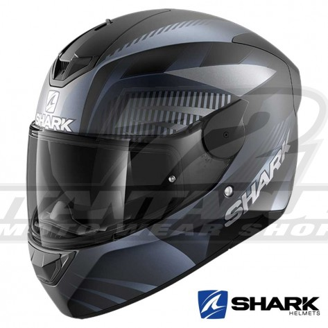 Casco Moto Integrale Shark D-SKWAL 2 Mercurium Mat - Nero Antracite
