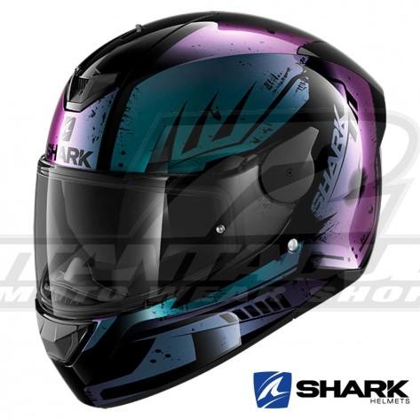 Casco Moto Integrale Shark D-SKWAL 2 Dharkov - Nero Viola Glitter