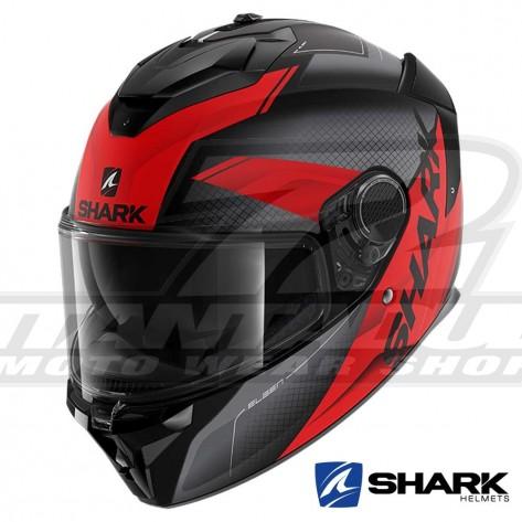 Casco Integrale Shark SPARTAN GT Elgen Mat - Nero Antracite Rosso
