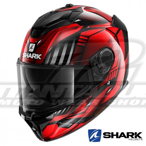 Casco Integrale Shark SPARTAN GT Replikan - Nero Rosso Cromo