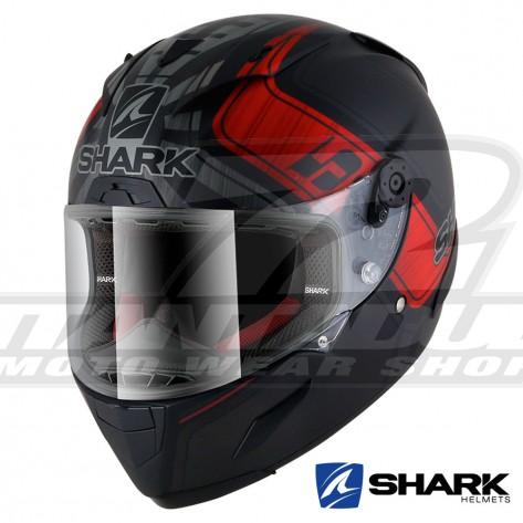 Casco Integrale Shark RACE-R PRO Replica Zarco Mat GP De France - Nero Antracite Rosso