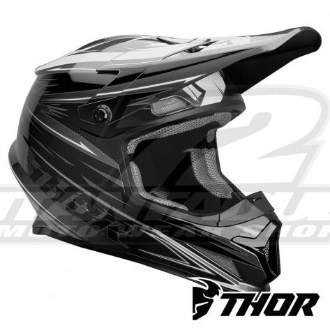 Casco Motocross Thor SECTOR WARP - Carbone Nero