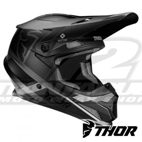 Casco Motocross Thor SECTOR SPLIT - Carbone Nero