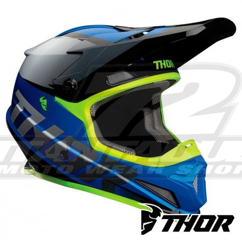 Casco Motocross Thor SECTOR FADER - Blu Nero