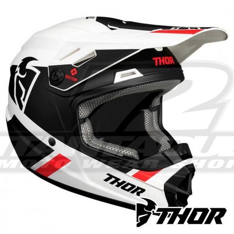 Casco Motocross Bambino Thor Youth SECTOR SPLIT - Bianco Nero