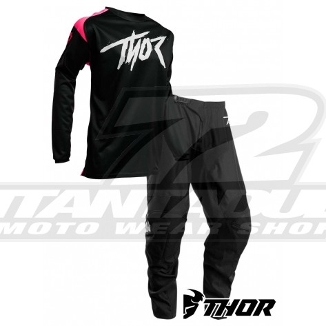 Completo Cross Bambino Thor Youth SECTOR LINK - Rosa