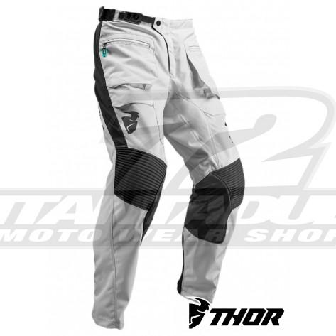 Pantaloni Enduro Thor TERRAIN (In The Boot) - Grigio Chiaro Nero