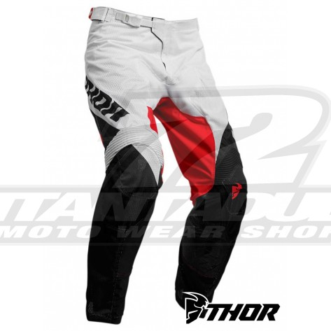 Pantaloni Cross Thor PULSE AIR FACTOR - Bianco Rosso